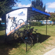 Реклама от винил на велосипедна стоянка - външна реклама Варна