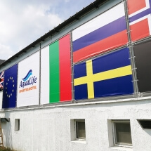 Монтаж на знамена от винил - външна реклама Варна